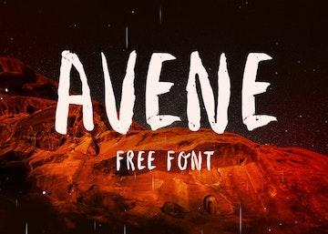 Avene - Fresh Hand Crafted Brush Typeface Font