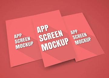 App Screen Showcase Mockup Vol.5