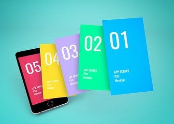 App Screen Showcase Mockup Vol.6