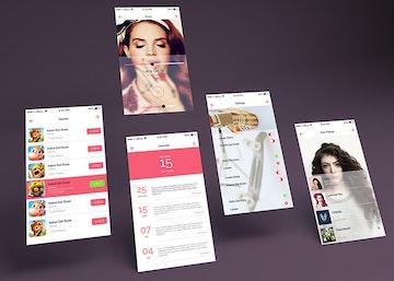 App Multiple  Screens Showcase Mockup Vol.7