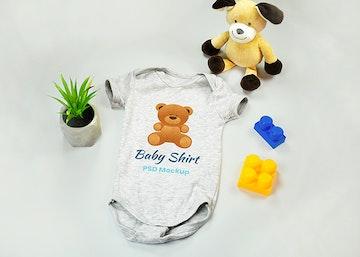 Baby Onesie PSD Mockup