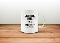 Free Coffee Mug PSD Mockup
