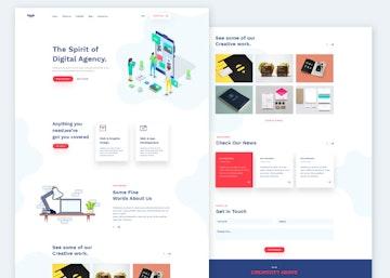 Doob - Simple Agency PSD Template