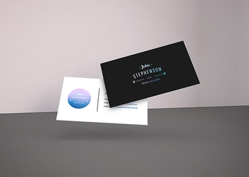 Falling Business Cards Mockup