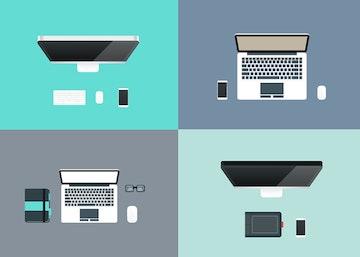 Flat Workspace Illustrations
