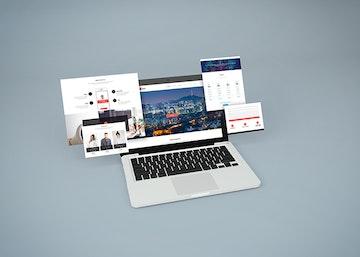 Notebook Website Mockup