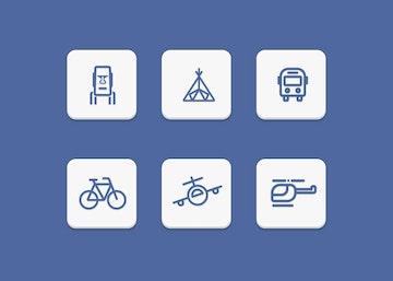 Six Travel Icons Set