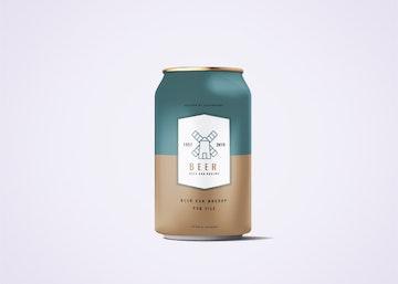 330ml Soda Or Beer Can Mockup