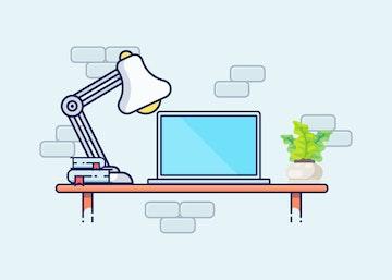 Vector Desktop Illustration