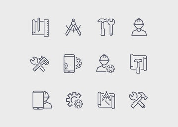 Vector Work Icons