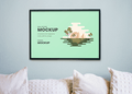 Wall Artwork PSD Mockup