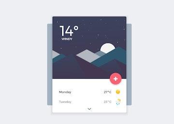 Weather Banner UI