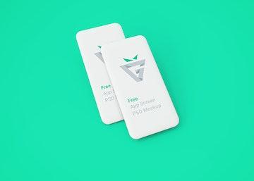 White Blank Mobile Screens Mockup