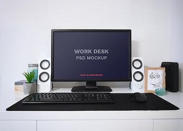 Work Desk PSD Mockup